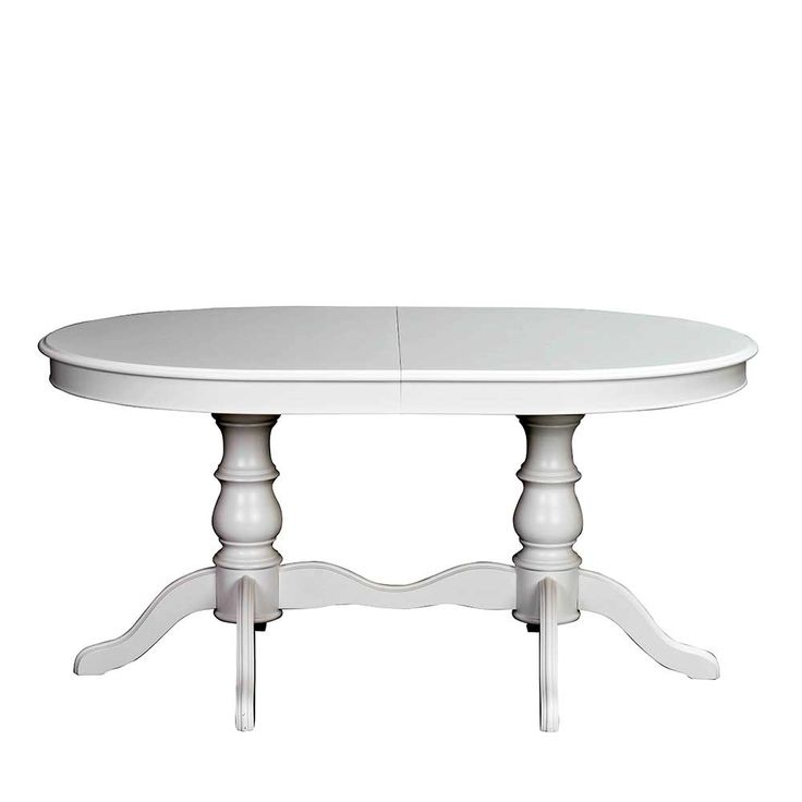 Ausziehbarer Esstisch In Weiß Oval Jetzt Bestellen Unter: ...