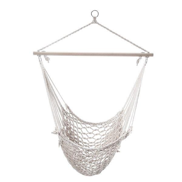 Found It At Wayfair   Woven Rope Tree Hanging Suspended Indoor/Outdoor Hammock  Chair