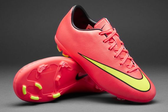 Nike Junior Football Boots - Nike Mercurial Jnr Victory V FG - Firm Ground - Kids Soccer Cleats - Hyper Punch-Gold-Black