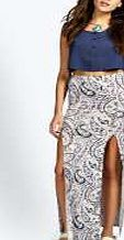 boohoo Paisley Print Split Front Jersey Maxi Skirt - Weve got plenty of time for pin-bearing skirts this season. A-lines stand out as the A-list style - try out minis in button down denim with wedges for that throwback 60s vibe! Not one for flashing som http://www.comparestoreprices.co.uk/skirts/boohoo-paisley-print-split-front-jersey-maxi-skirt-.asp
