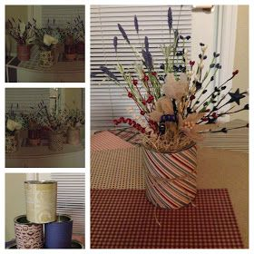 Carryn of all Trades: Harrison's First Birthday (Preview and a Craft).- wild flower formula can centerpieces