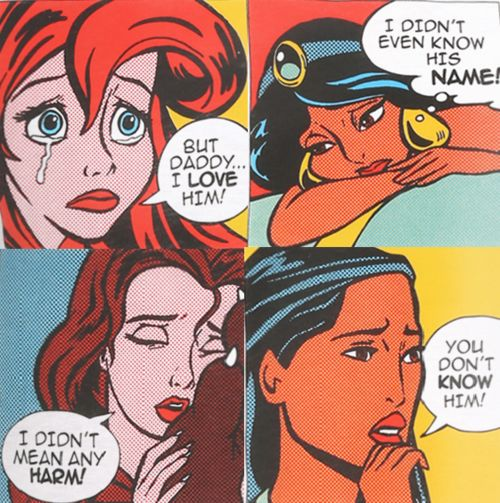 Disney Girls Say....Disney Lichtenstein