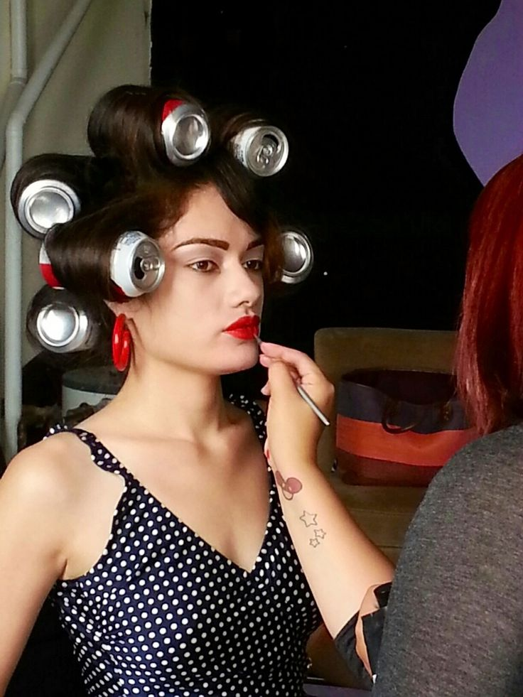Would like to do a shoot like a 1950's woman, with the beer cans in my hair! I would do this on set at a trailer park. Lots of pink and light blue, little pink blow up pool, I have a ton of ideas.