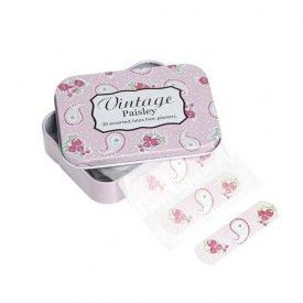 Rex Pink Paisley Plasters in a Tin