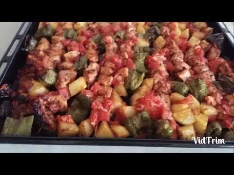 Fırında Sebzeli Tavuk Çöp Şiş - YouTube