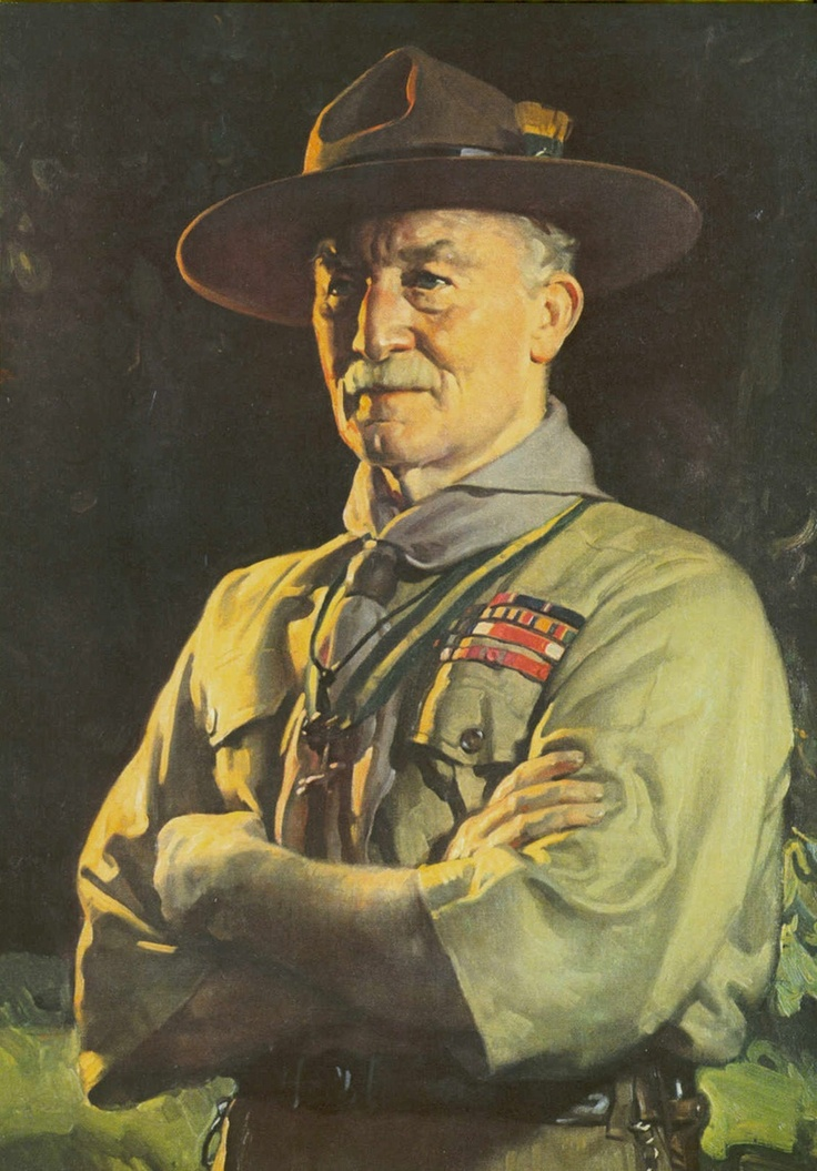 Lord Robert Baden-Powell, founder of the Scouting movement, in his trademark Stetson.