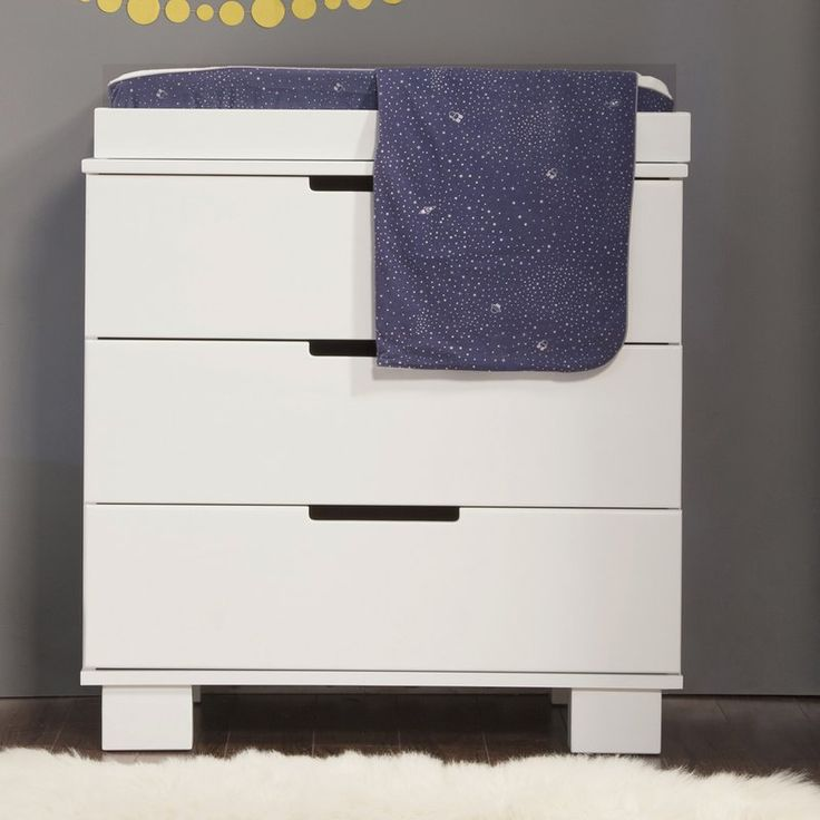 The Changing Table has a modern and contemporary look. This babyletto changing table makes a fashionable addition to the Mercer Convertible Crib as it is designed with the same style. This wonderful changing table has three drawers for storage and comes with a removable changer tray. This modern changing table / dresser will look great in any nursery.