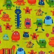Nicky Monsters Lime - Nicky Velours - Stoffen