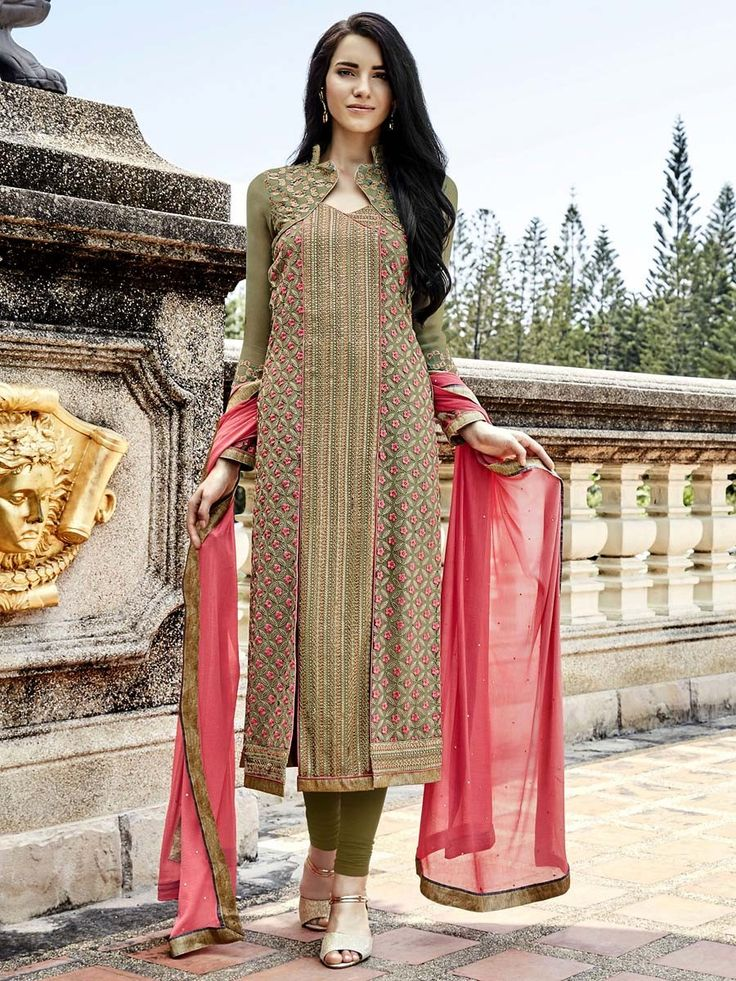 Outfit is a novel way to spruce up your personality.  Item Code: SLHPA2126 http://www.bharatplaza.com/new-arrivals/salwar-kameez.html