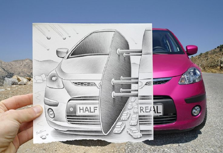 Half Real Car, Dessin et Photographie