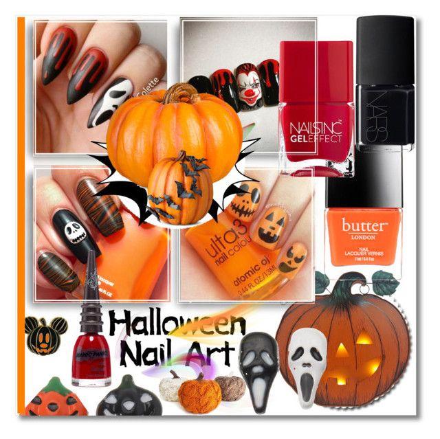 """Nail art"" by ilona828 ❤ liked on Polyvore featuring beauty, Manic Panic NYC, Butter London, NARS Cosmetics, Nails Inc., Improvements and nailart"