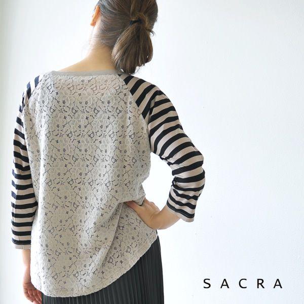 【楽天市場】SACRA サクラ バックレースボーダー カットソー・se660021(全4色)(M)【2014秋冬】:Crouka(クローカ)