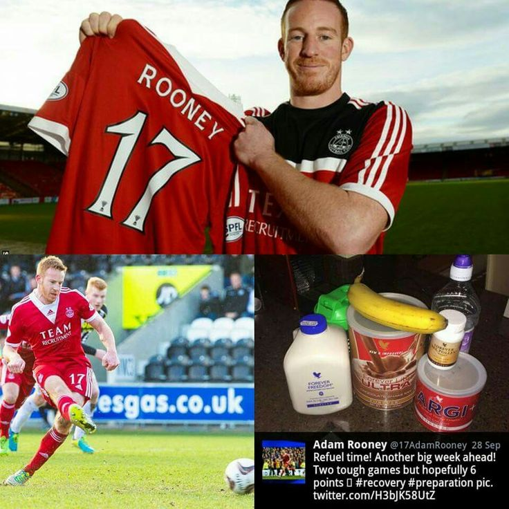 Aberdeen's Adam Rooney is a user of Forever Living products