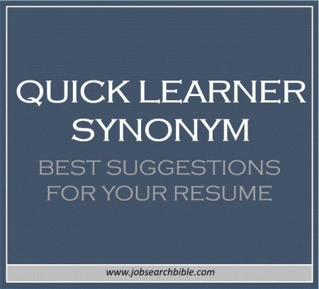 Quick learner synonym Resume / CV Advice Pinterest Resume