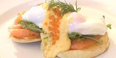 Try this Eggs Benedict with Salmon & Rocket recipe by Chef Peter Evans. This recipe is from the show Short Orders.