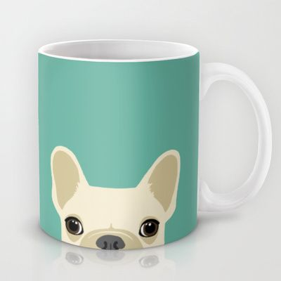 Buy French Bulldog by Anne Was Here as a high quality Mug. Worldwide shipping available at Society6.com. Just one of millions of products available.