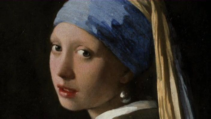 bij les 6; schooltv filmpje (3.40min)  Rembrandt van Rijn, Frans Hals en Johannes Vermeer waren de beroemdste Hollandse schilders uit de Gouden Eeuw. Het materiaal waarmee zij werkten was puur natuur en wordt door molenaar Piet Kempenaar nu nog gemaakt.