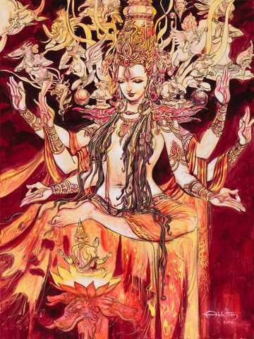 Adi Shakti Goddess Painting Abhishek Singh