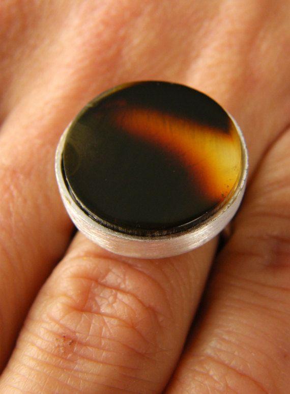 Amber Ring, DARK,cherry, matte sterling Silver rail,genuine amber,anillo ámbar,rav ring,anel,ambre,bärnsten,bernsteinring, 琥珀戒指, Handmade