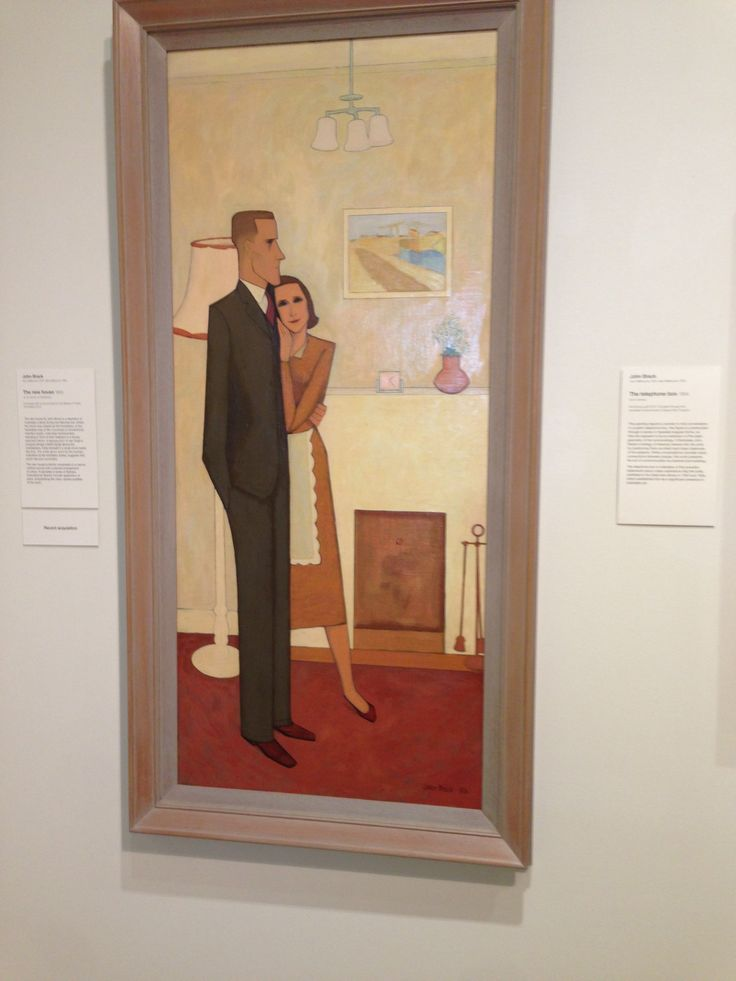 Another John Brack - The New House at AGNSW. His limited palette, the angles. Bliss.