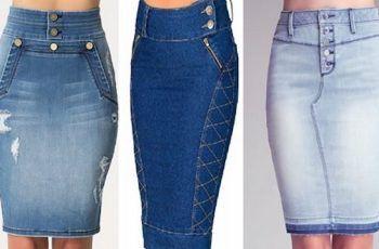 4ae9d1a24 Como Hacer Faldas con Jeans Viejos | r | Como hacer una falda, Hacer ...
