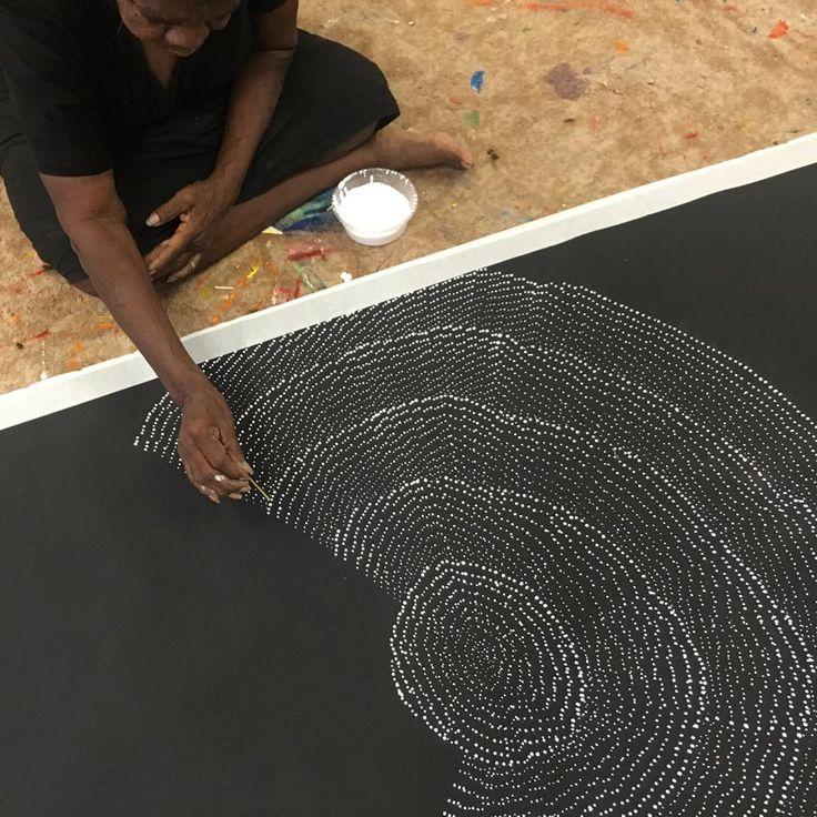 "Australian Aboriginal Art Painting by LILY KELLY NAPANGARDI ""Tali - Sand Hills"" 154 x 96 cm 2017 LK1907 #artwork #canvas #australia #artist"