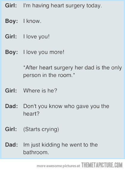 Ah ah, le père horrible.