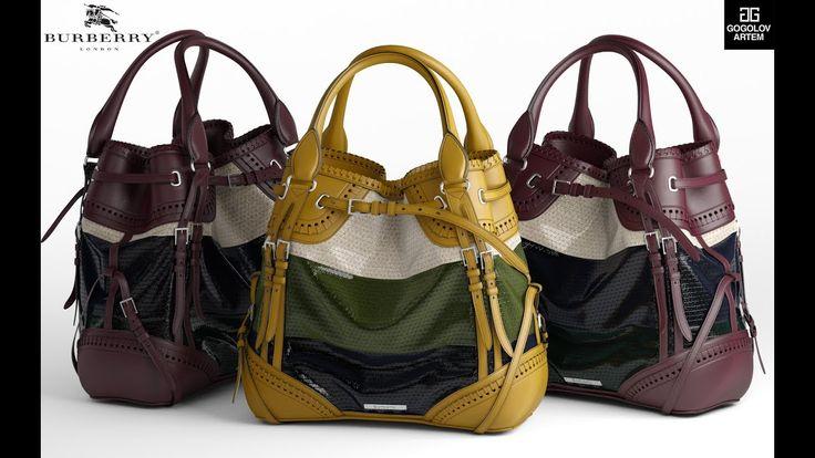 "Моделирование сумки ""Burberry Whipstitch Bag"" в 3d max и marvelous designer"