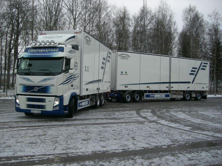 2014-01-13 Emanuelssons Transport AB   FH 540 6x2 Globetrotter med LIMETEC skåp, bakgavel lift och öppningsbar sida    Släp: LIMETEC 4 axlat transportskåp med öppningsbar sida.