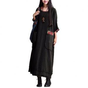 Literary Style Long Dress 23980-1 US$9.4