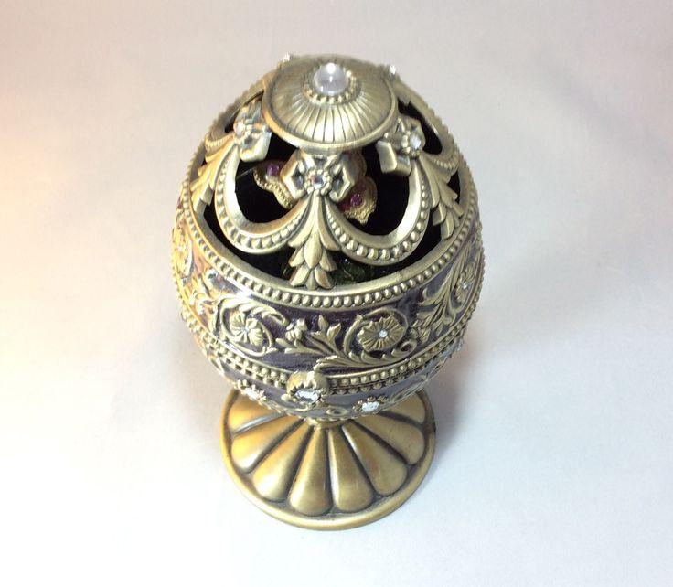 Jeweled Metal Egg Music Box Vintage Metals Vintage And
