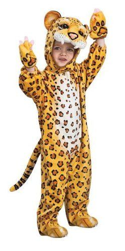 """Child's Deluxe Leopard Halloween Costume by Rubies Costumes. $39.99. Makes a great Halloween costume. Costume comes with spotted jumpsuit. Also includes matching headpiece. Small Height: 44""""-48"""" Waist: 25""""-26"""". Spotted leopard gloves. Our child's leopard Halloween costume is a great addition to any cat, animal, and jungle costume group for any Halloween costume party."""