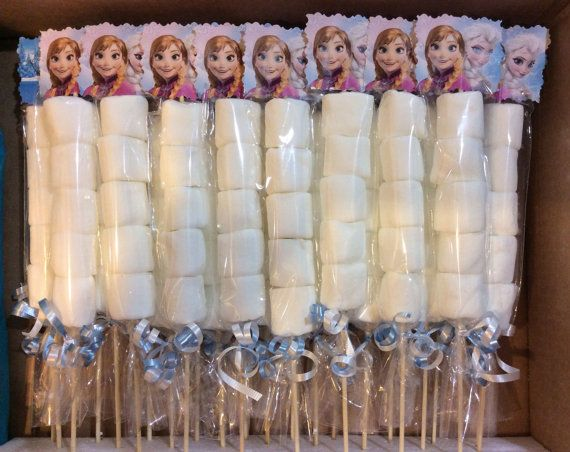 Disney Princesses Birthday Party Marshmallow Favors Elsa