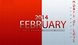 hello february 2014   Calendar 2014 Free Desktop Wallpaper Calendar 2014 Wallpapers  HD ...
