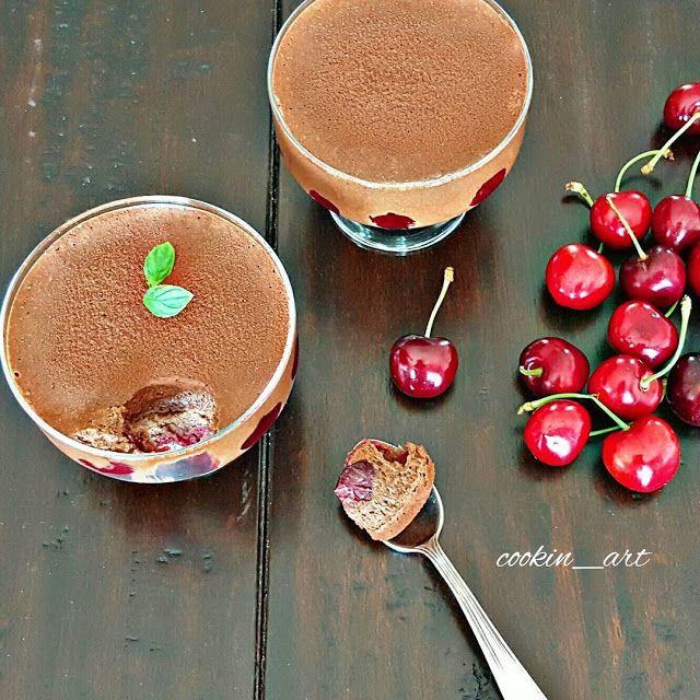 Tuzlu tatli dünyamin tarif arsivi: Pandispanya tabanli visneli cikolatali mus    Bu t...