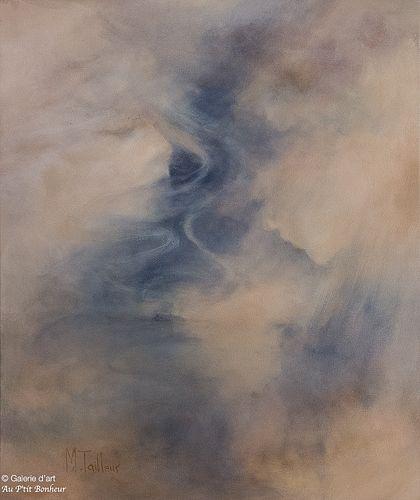 Madeleine Tailleur, 'Femmes d'eau', 20'' x 24''   Galerie d'art - Au P'tit Bonheur - Art Gallery