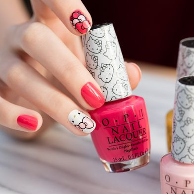 Searching for the perfect @HelloKitty nail art? Your SUPERCUTE new set is here! Get the look: opi.is/hkbows #HelloKittybyOPI