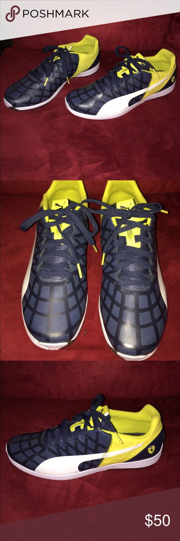 PUMA EVOSPEED SNEAKERS PUMA EVOSPEED  BLUE TELLOW N QHITE SNEAKERS NEW WITHOUT BIX NEVER WORN SIZE MEN 11 Shoes Sneakers