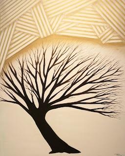 Still Alive Tree Series, Original, Dedicated ©2012 Pop Artist Michael Perez      Featured Series at 2012 Vail Film Festival  Gallery 212 Miami
