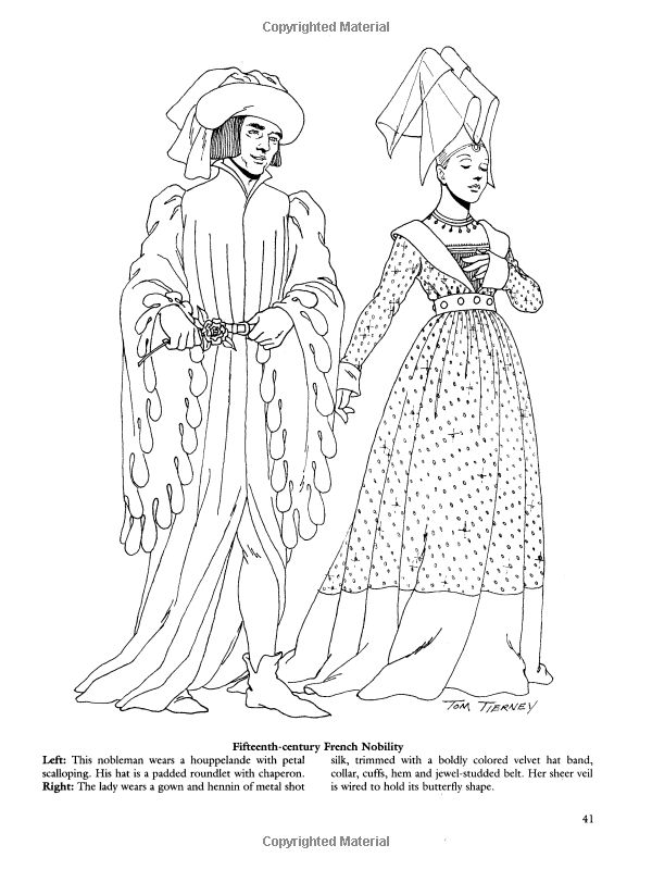 Medieval Fashions Coloring Book (Dover Fashion Coloring Book): Amazon.co.uk: Tom Tierney: 9780486401447: Books