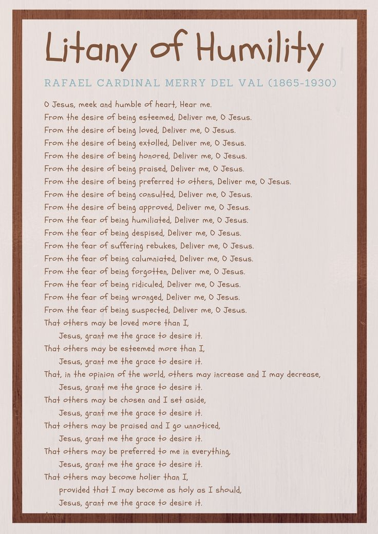 It's just a graphic of Divine Litany of Humility Printable