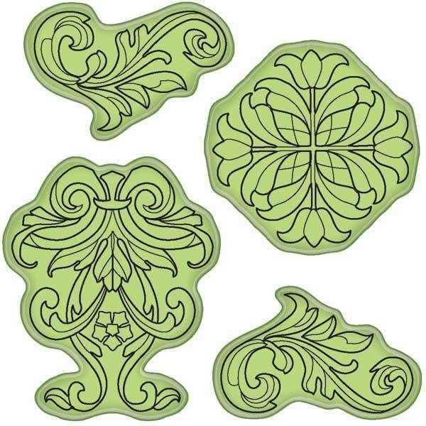 Decorative Ornament Inkadinkado Stamping Gear Cling Stamps