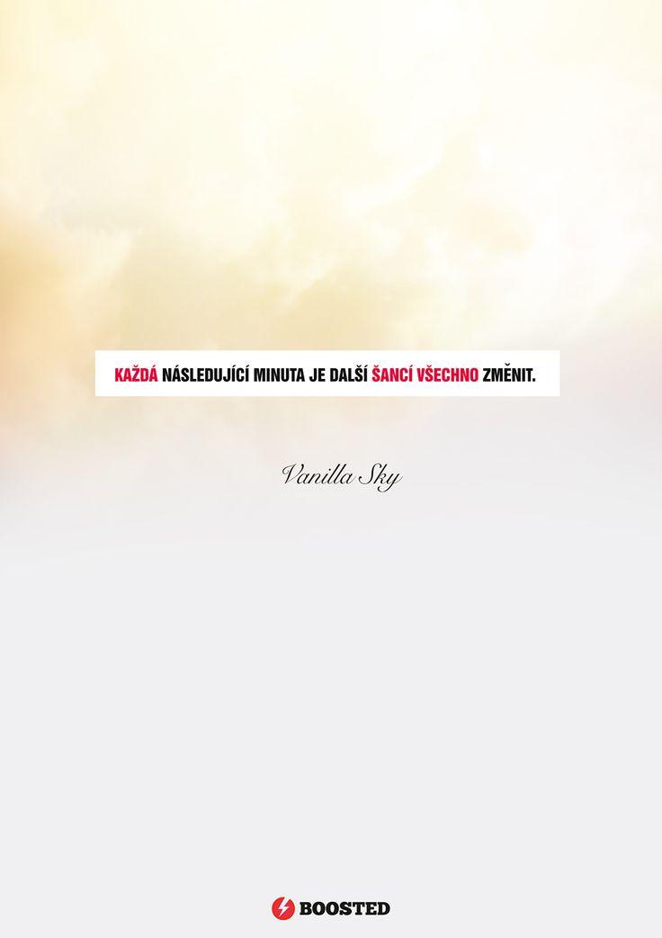 Motivační plakát Každá následující minuta (Česky)