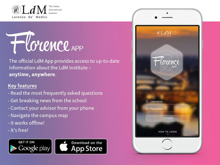 Current #students: download our LdM Florence App for the best #studyabroad #experience!!