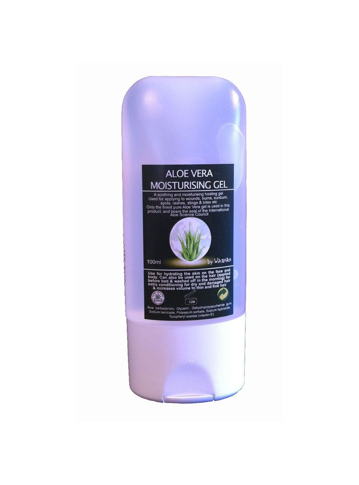 Aloe Vera Gel. A soothing and moisturising, healing gel. Wonderful when applied to wounds, burns, and bites etc. It soothes and is thought to help the skin to heal. Also great to use as an after sun or on sun burn.