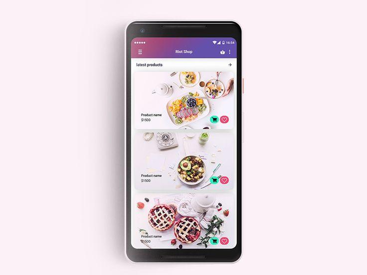 Mobile Shop List Design