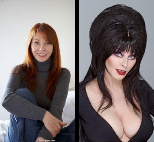 Cassandra Peterson, better known as Elvira when in costume.