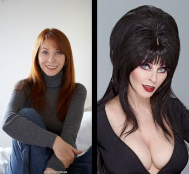 Cassandra Peterson, better known as Elvira when in costume.
