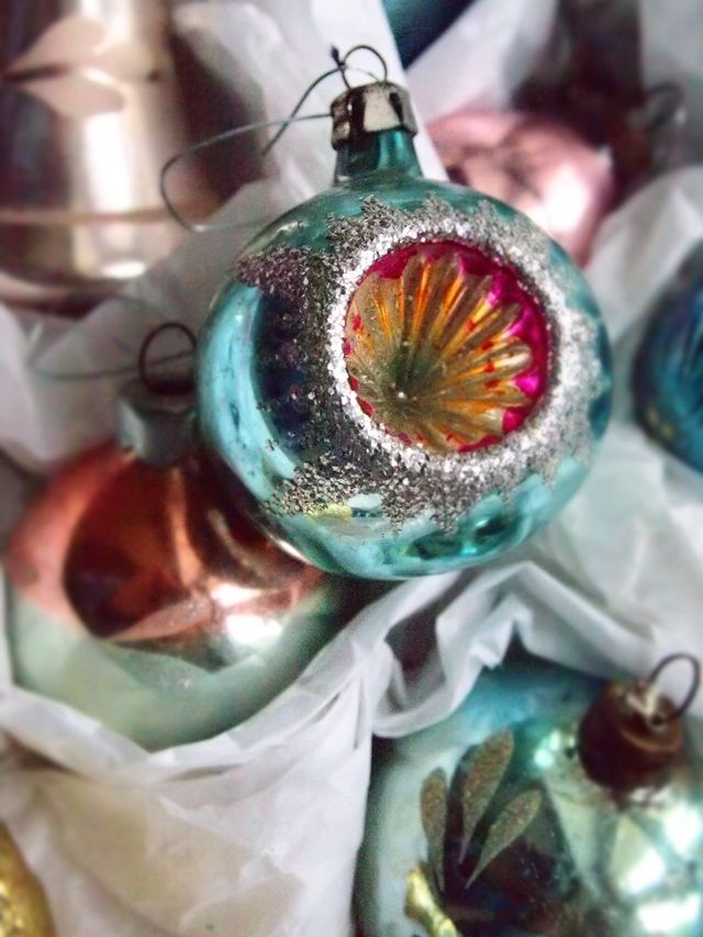 Vintage Christmas ornaments. This one was my favorite.