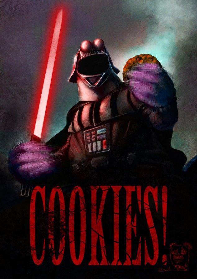 Cookie Monster as Darth Vader...